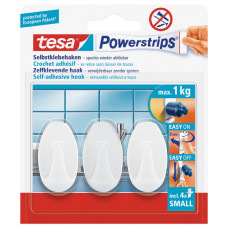 TESA POWERSTRIPS SMALL OVAAL WIT