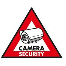 STICKER CAMERA SECURITY 123 X 148 MM